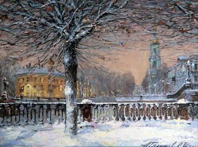 St Petersburg in Oil Painting