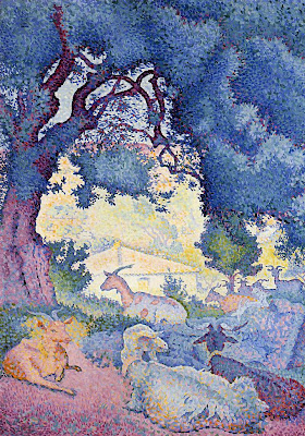 Henri Edmond Cross. Goats, 1895