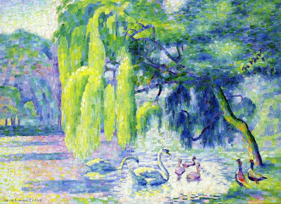 Henri Edmond Cross. Family of Swans