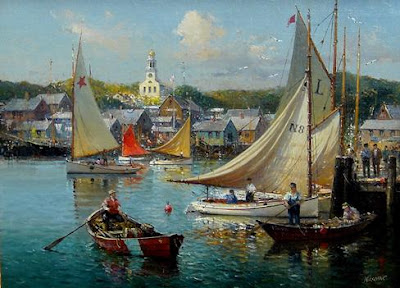 Detlev Nitschke. Nantucket Harbor Work Day