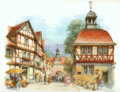Detlev Nitschke. Watercolors. Sood-Allendorf, Germany