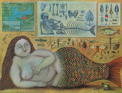Painting by Valentin Gubarev. The Mermaid Fresh Water Ordinary