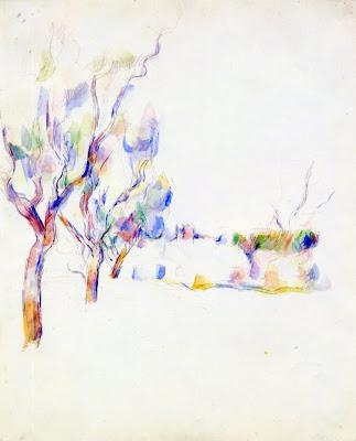 Paul Cezanne. Almond Trees in Provence