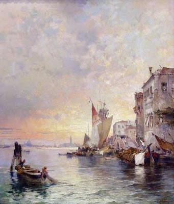Franz Richard Unterberger. On the Grand Canal, Venice