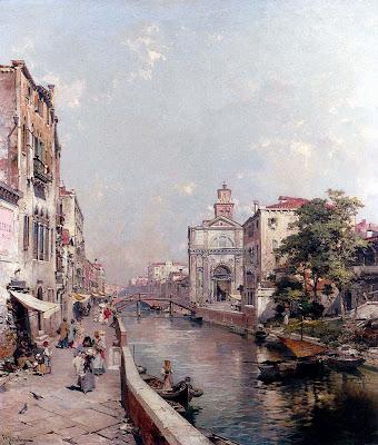 Franz Richard Unterberger. Rio Santo Geronimo, Venezia