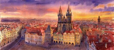 Yuri Shevchuk. Prague Rooftops