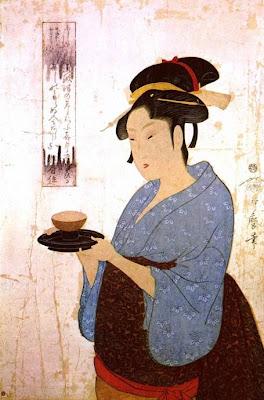 Kitagawa Utamaro. Ukiyo-e. A Girl from a Teahouse