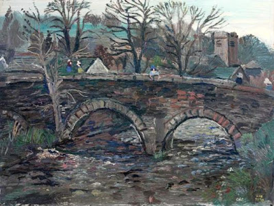 Fred Yates. Village Bridge
