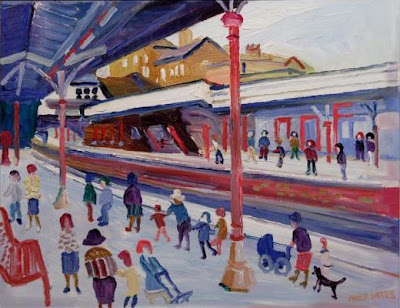 Fred Yates. Platform 1, Sutton Station