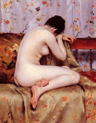 Japonisme. Paintings of Beautiful Women. William Merritt Chase. Modern Magdalen