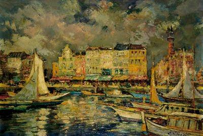 Paintings by Charles Verbrugghe, Belgian Artist