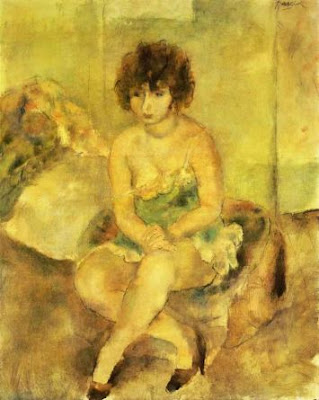 Jules Pascin. Portrait of Lucy Krogh, 1925