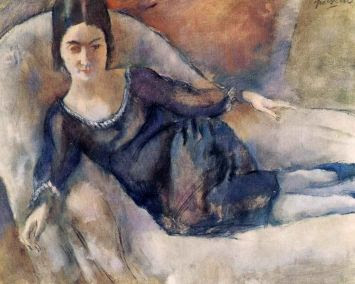 Jules Pascin. Lady on Sofa, 1925