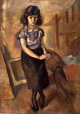 Jules Pascin. Standing Young Woman, 1920