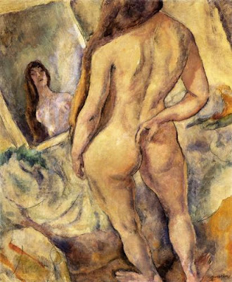 Jules Pascin.Woman at the Mirror