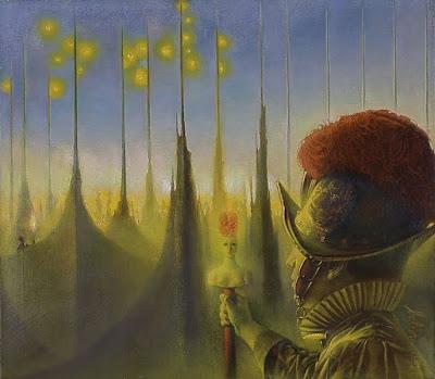 Bellor, Belgian Symbolist Painter. The Olive Garden