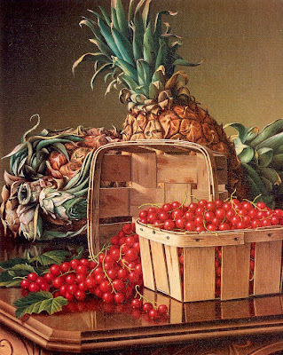 Levi Wells Prentice. Still Life with Pineapple and Basket of Currants, 1892