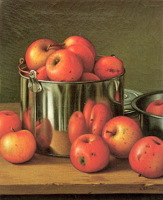 Levi Wells Prentice. American Still Life Artist. Apples in a Tin Pail, 1892