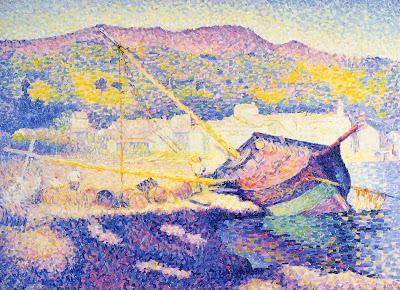 The Blue Boat, 1899 by Henri Edmond Cross