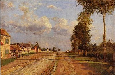 Camille Pisarro. Road to Racquencourt, 1871
