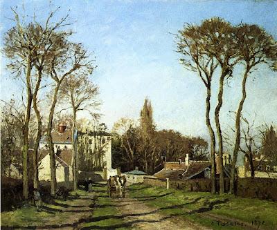 Camille Pisarro. Entering the Village of Voisins, 1872