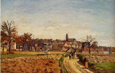 Camille Pisarro. View of Pontoise, 1873