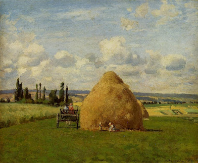 Landscape by Camille Pisarro. Haystack, Pontoise, 1873