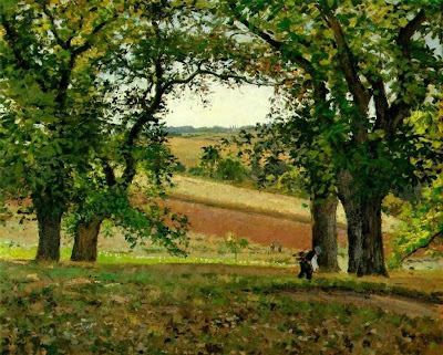 Chestnut Trees at Osny, 1873, by Camille Pisarro