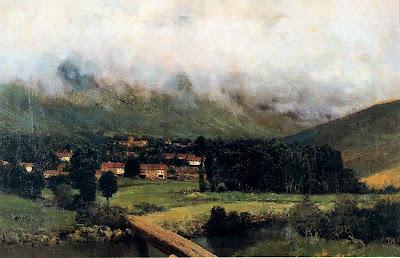Landscape Painting by Casimiro Sainz y Saiz