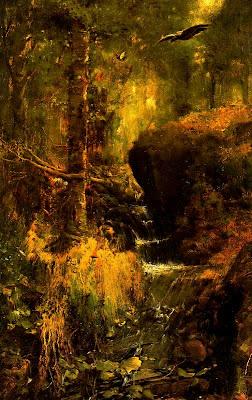 Landscape by Casimiro Sainz y Saiz