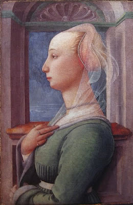 Portraits of  Women of Italian Renaissance. Filippo Lippi, Woman's Portrait