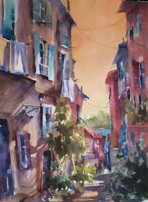 Watercolors by Jinnie May, American Artist