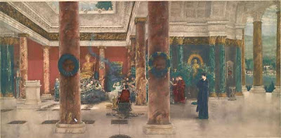 Albert von Keller. Empress Faustina in the Temple of Juno at Praeneste, 1881
