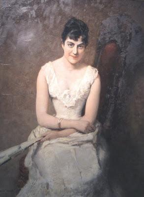Albert von Keller. Irene von Lenbach, (Artist's Wife)