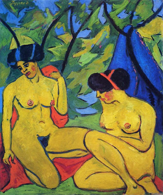 Georg Tappert. Two Nudes in a Landscape