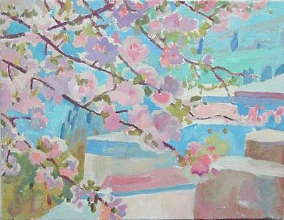 Paintings by Russian Artist Ekaterina Reutova. Spring Bloom