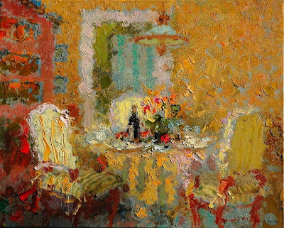 Impressionist Paintings by Zhang Jing Sheng. Golden Room