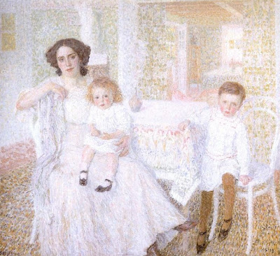 Painting by Leon De Smet. White Harmony