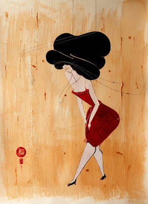 Hayv Kahraman's Paintings.. Sew