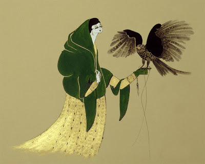 Hayv Kahraman's Painting. Falconry