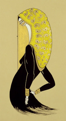 Paintings by Hayv Kahraman. Yellow Scarf