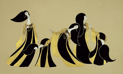 Paintings by Hayv Kahraman. Dance