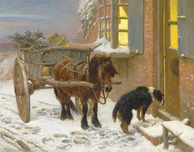 John Sargent Noble. Their Christmas Eve,Christmas in painting