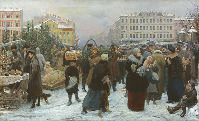 beautiful Christmas paintings, Christmas in painting of 19-20 c