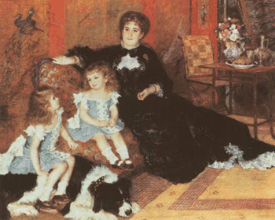 Pierre-Auguste Renoir. Madame Charpentier with  Her Children. 1878