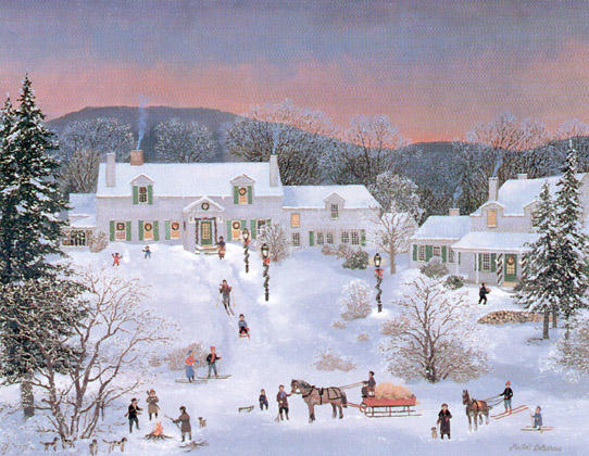 Michel Delacroix. Winter Painting