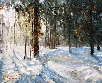 Painting by Russin Artist Oleg Trofimov