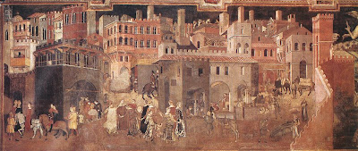 Ambrogio Lorenzetti. Effects of Good Government on the City Life Life
