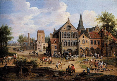 Pieter Bout. A Town Scene