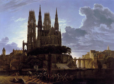 Karl Friedrich Schinkel. Medieval Town by Water